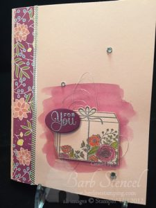 Power Pink birthday card featuring Stampin' Up! Sweet Soiree product suite